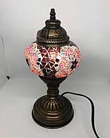 Настольный турецкий светильник Sinan из мозаики ручной работы розовый, фото 1