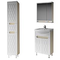 Комплект мебели для ванной комнаты Венеция 55 ( дуб молочный ) ВанЛанд