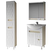 Комплект мебели для ванной комнаты Венеция 65-2 ( дуб молочный ) ВанЛанд