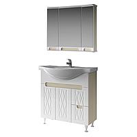 Комплект мебели для ванной комнаты Венеция 80 ( дуб молочный ) ВанЛанд