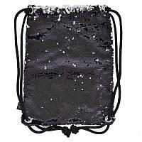 Сумка-мешок Yes Black Sequins, двухсторонняя пайетка (557659)