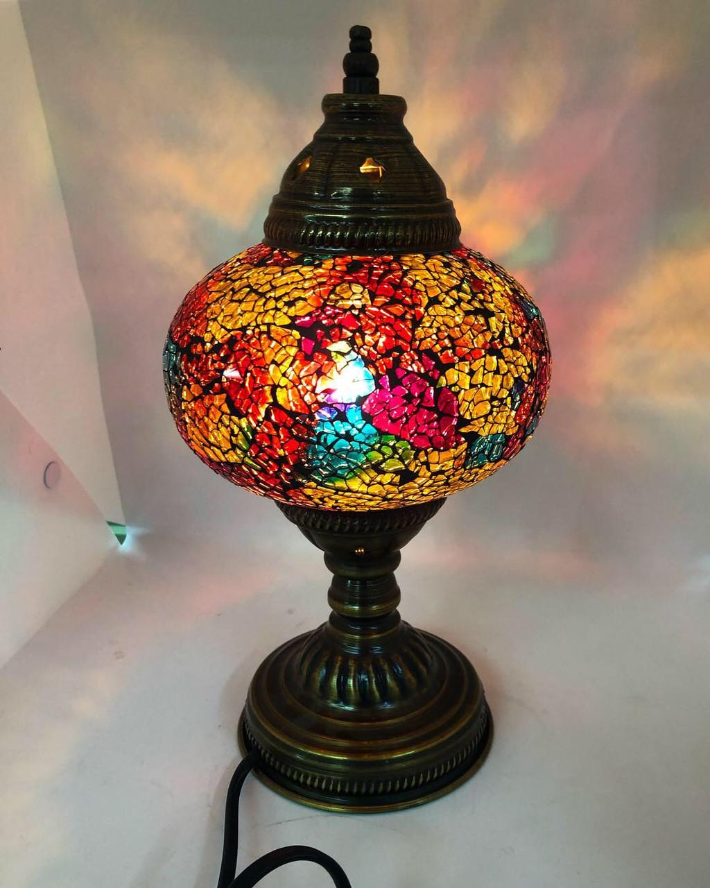 Настольный турецкий светильник Sinan из мозаики ручной работы разноцветный 2