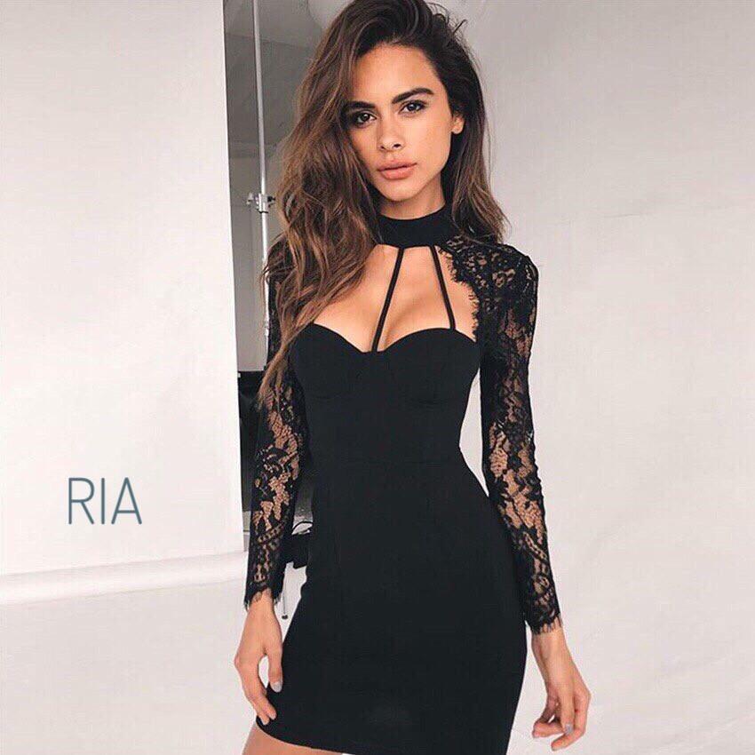 Гипюровое чёрное платье, размер S M L
