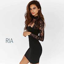 Гипюровое чёрное платье, размер S M L, фото 3