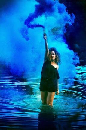 Цветной дым, СИНИЙ 60с, фото 2