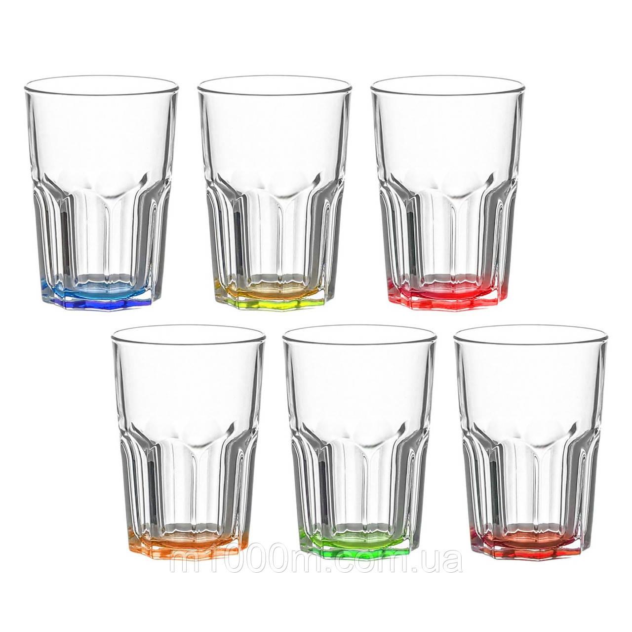 Набір склянок Bright colors New America 350мл.