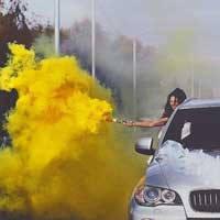 Цветной дым, ЖЕЛТЫЙ 60с, фото 3