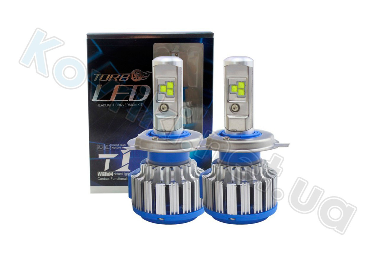 Комплект LED ламп TurboLed T1 CanBus с активным охлаждением