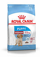 Корм для щенков средних пород до 12 месяцев Royal Canin Medium Puppy, 15 кг