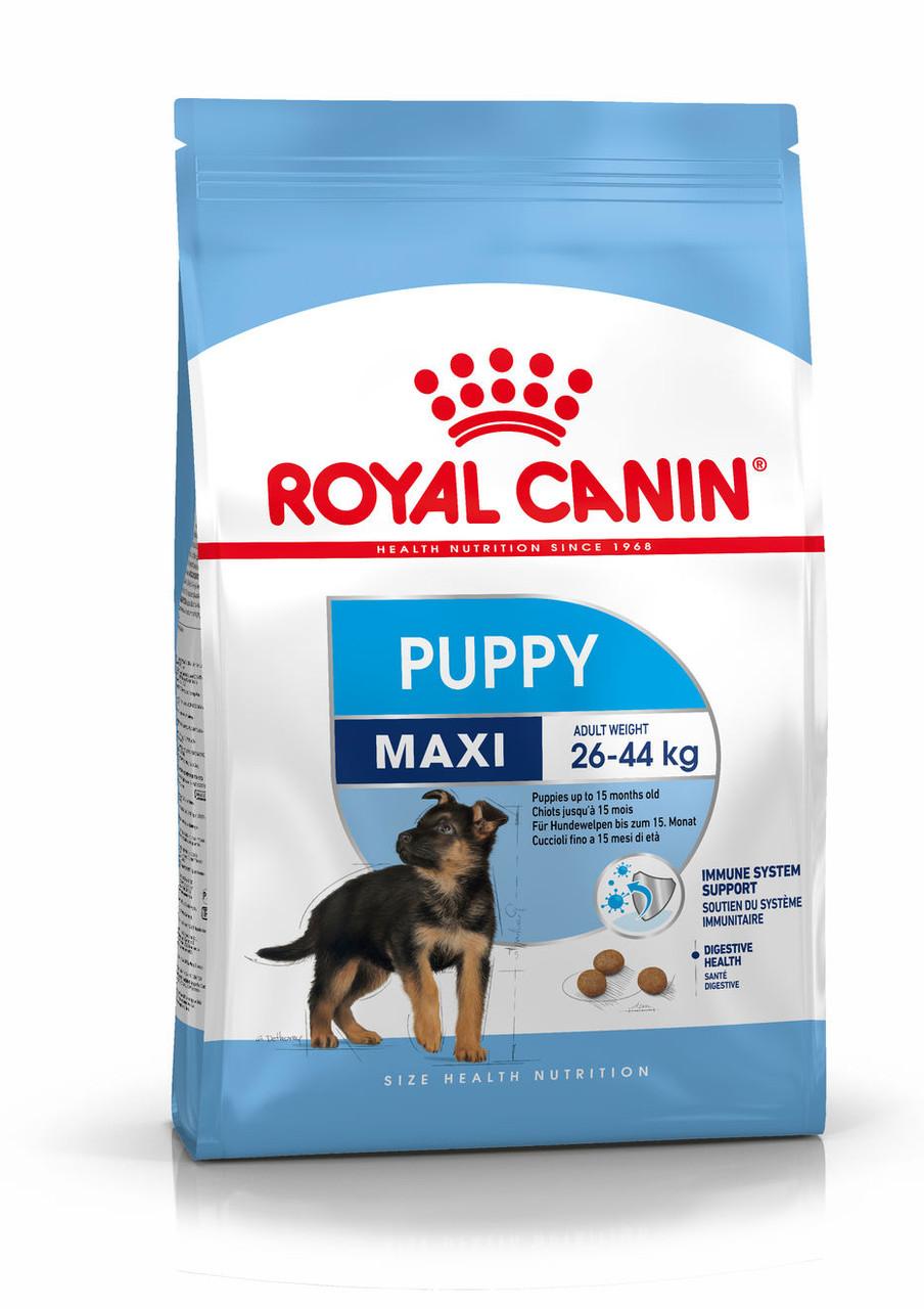 Корм для щенков крупных пород до 15 месяцев Royal Canin Maxi Puppy, 4 кг