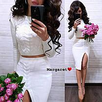 Очень красивый костюм юбка и кофта-топ, размер единый 42-46, фото 3