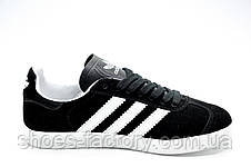 Кроссовки унисекс в стиле Adidas Gazelle OG, Black\White, фото 3