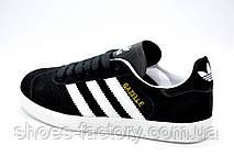 Кроссовки унисекс в стиле Adidas Gazelle OG, Black\White, фото 2