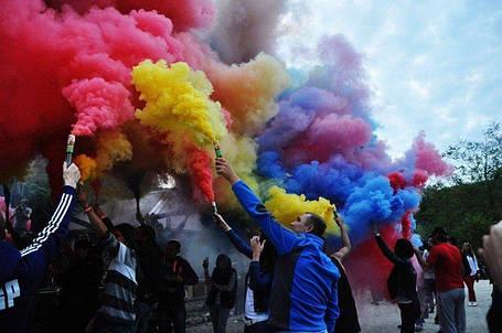 Кольоровий дим 6 кольорів (мікс) ДК-60 60с, фото 2