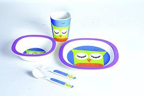 Детский набор посуды Con Brio CB-250 из бамбука 5 предметов