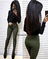 Стильные лосины джинс-стрейч. Размеры С и М, Турция, фото 3