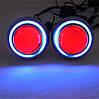 ЖЕЛТЫЕ Дьявольские Глазки для подсветки би-линз mini H1, G5 и других / Devil Eyes for Projector Lens (YELLOW), фото 2