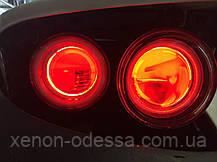 СИНИЕ Дьявольские Глазки для подсветки би-линз mini H1, G5 и других / Devil Eyes for Projector Lens (BLUE), фото 3