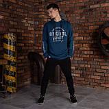 """Синяя спортивная мужская кофта с надписями  """"ORIGINAL"""", фото 3"""