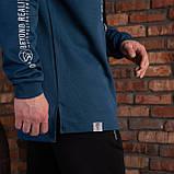 """Синяя спортивная мужская кофта с надписями  """"ORIGINAL"""", фото 4"""