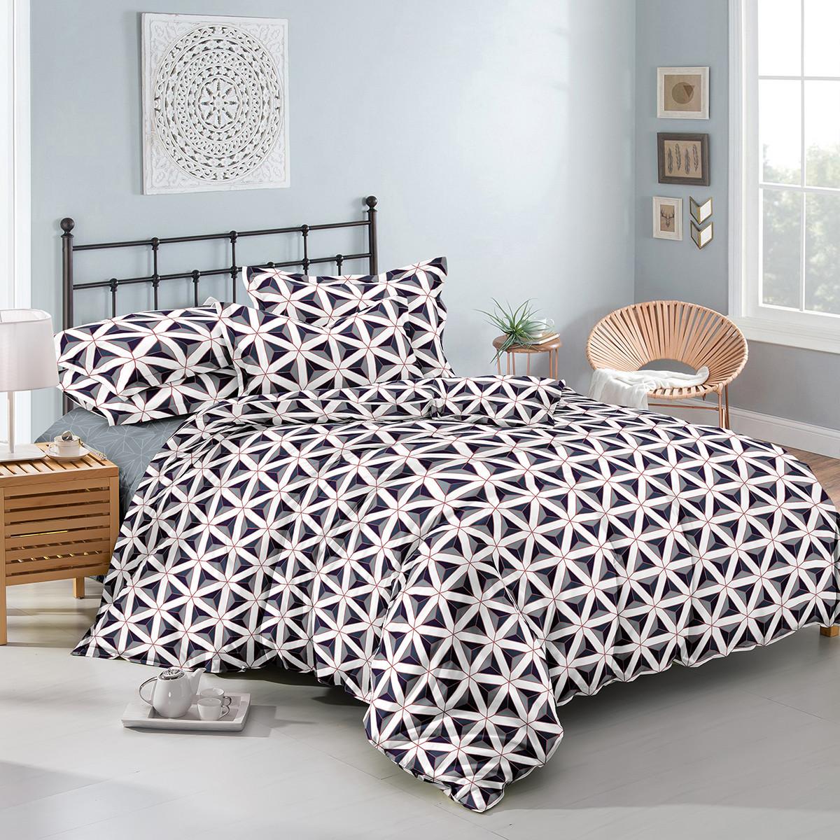 Двуспальный комплект постельного белья евро 200*220 хлопок  (11166) TM KRISPOL Украина