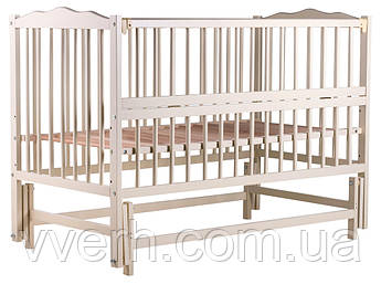 Детская кровать Babyroom Веселка маятник, откидной бок DVMO-2  бук слоновая кость