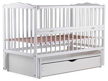 Детская кровать Babyroom Веселка маятник, ящик, откидной бок DVMYO-3  бук белый