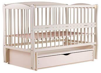 Кровать Babyroom Еліт маятник, ящик, откидной бок DEMYO-5  бук слоновая кость