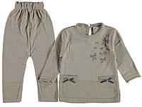 Костюм (кофта, штаны) для девочки Lolitop 74 см