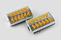 Резинки подножек водителя   Delta   (желтые с хромированной вставкой mod:1)   XJB