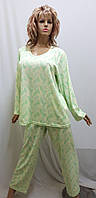Пижама большого размера с брюками хлопок 667