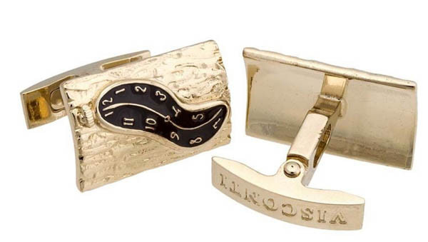 Запонки  980C017 Cufflinks Dali Green Enamel Gold Trims