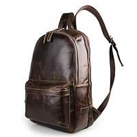 Рюкзак кожаный из натуральной винтажной кожи в коричневом цвете TIDING BAG 7273Q
