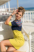№7472 Стильное женское платье с оригинальными вставками, фото 1