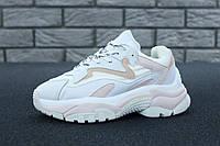 Кроссовки женские Ash Addict Sneakers реплика ААА+ (нат. кожа) размер 39 белый (живые фото), фото 1
