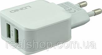 Сетевое зарядное устройство Ldnio A2202 (2xUSB 2.4A) White