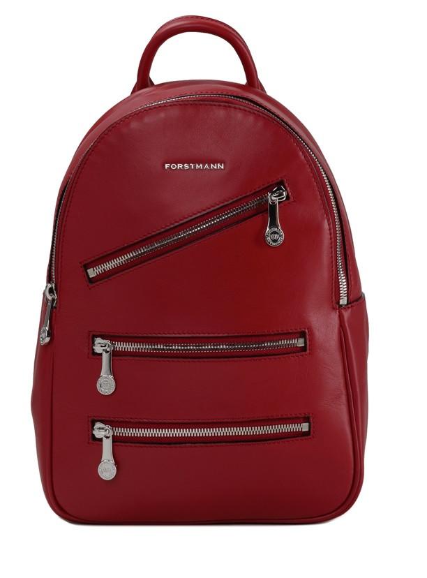 Женский рюкзак FORSTMANN (Italy) из натуральной кожи в красном цвете F-P117R