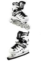 Ролики-коньки Scale Sport. White (2в1) р. 29-33,34-37,38-41., фото 1