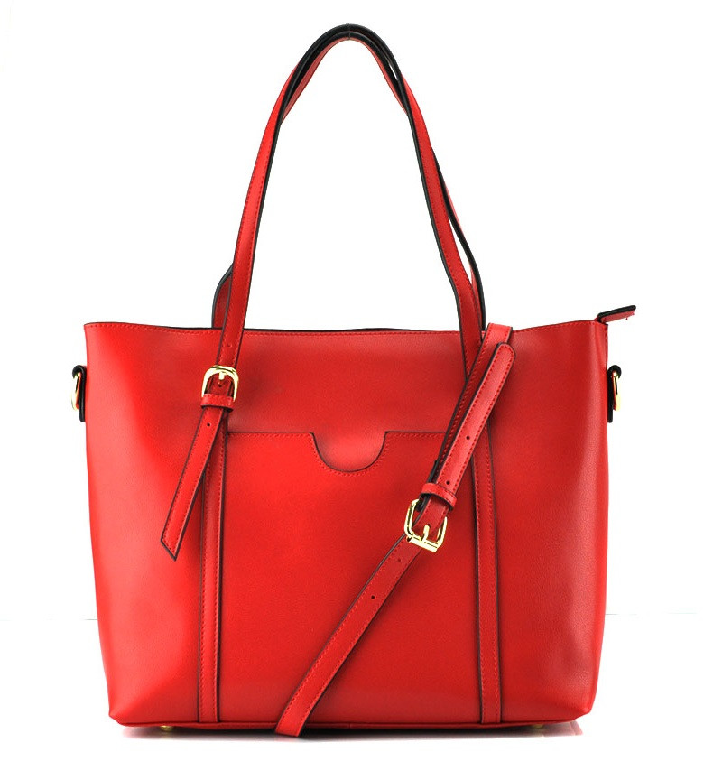 Женская сумка Grays из натуральной кожи в красном цвете GR3-172R