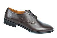 Туфли коричневые со строчкой