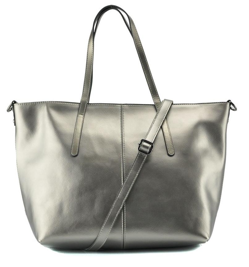 Женская сумка Grays из натуральной кожи в  серебристом цвете GR3-8687GM
