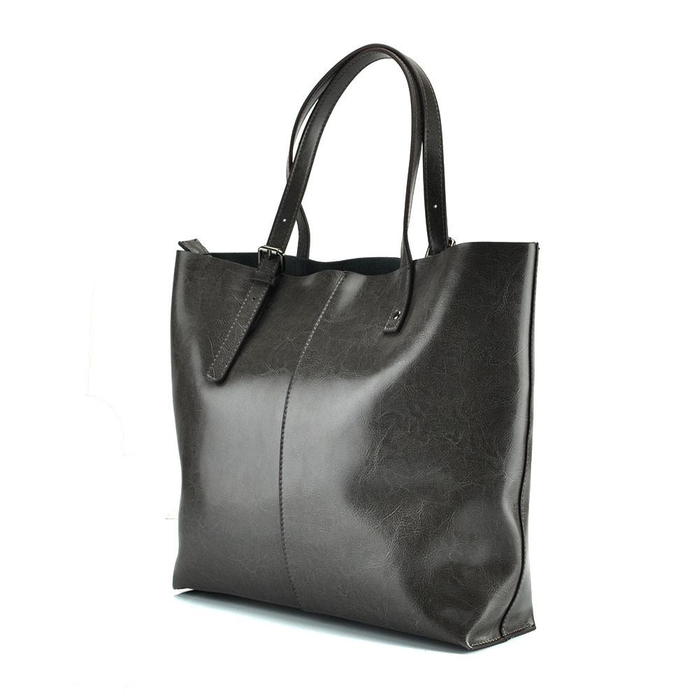 Женская сумка из натуральной кожи в серном цвете Grays GR-2011G