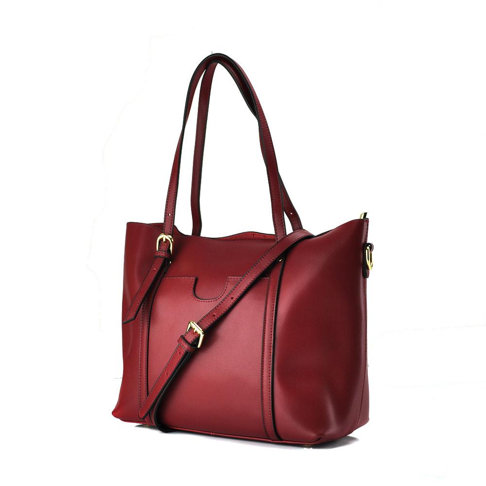 Женская сумка Grays  из натуральной кожи в бордовом цвете GR3-172BO