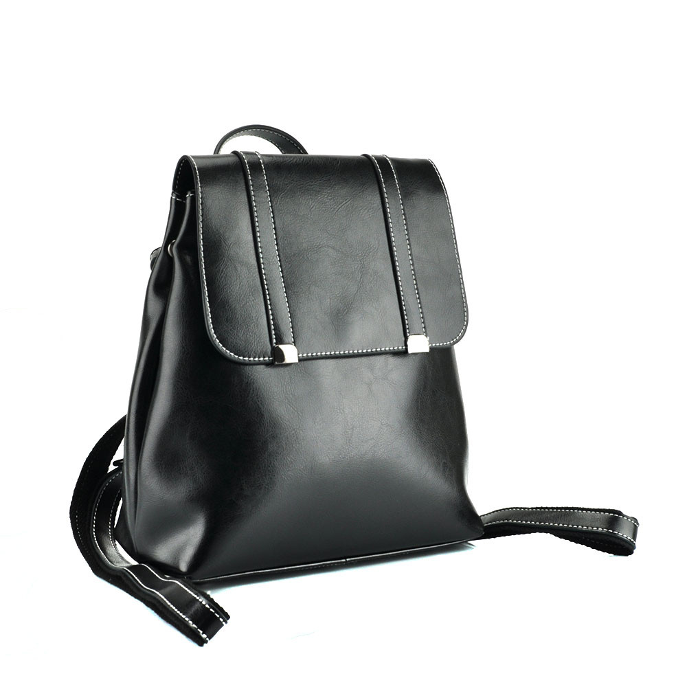 Женский рюкзак Grays из натуральной кожи в черном цвете GR3-6095A-BP