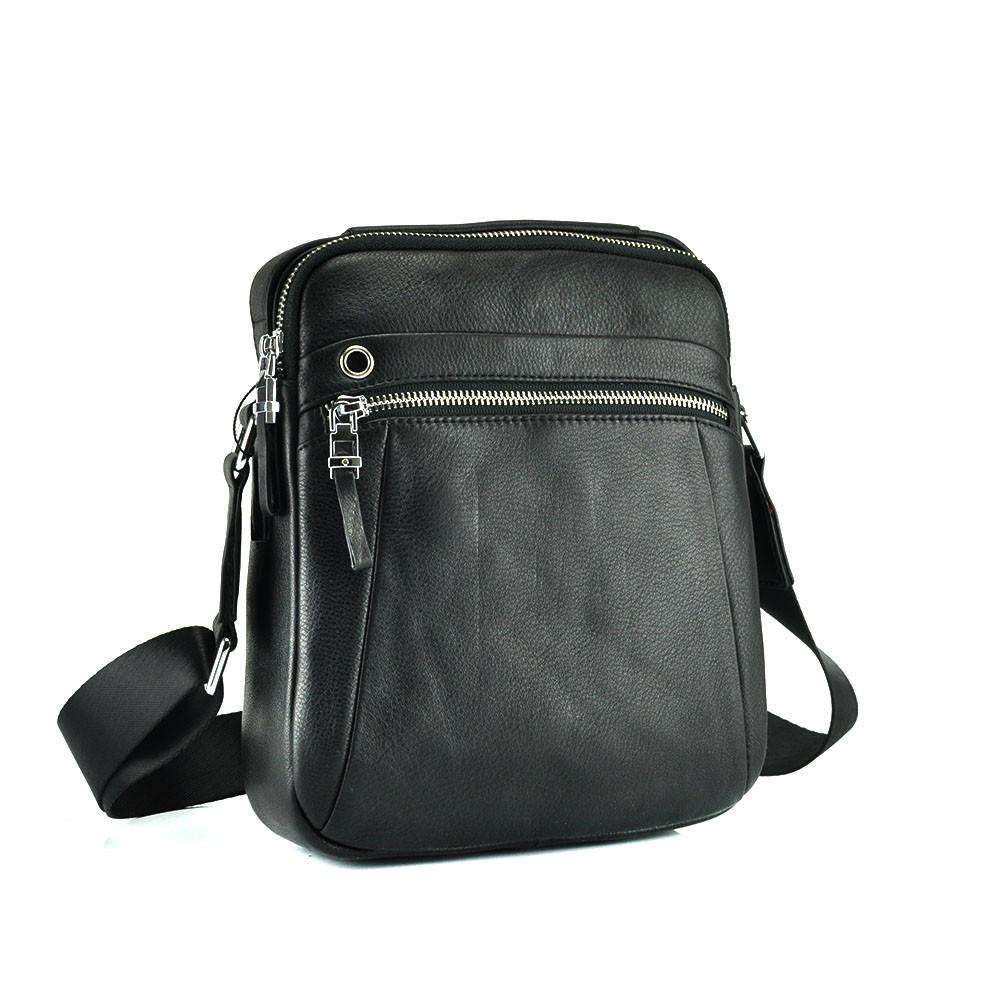 Мессенджер в вертикальном стиле черного цвета Tiding Bag NM17-9132-3A