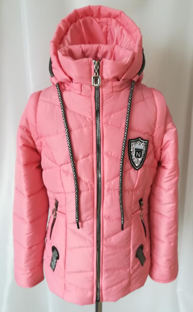Демисезонная куртка для девочки удлиненная 34-44 малиновый  продажа ... da989757c614d