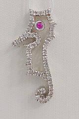 Підвіска золота з діамантами і рубіном IR3001S