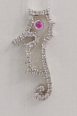 Подвеска золотая с бриллиантами и рубином IR3001S