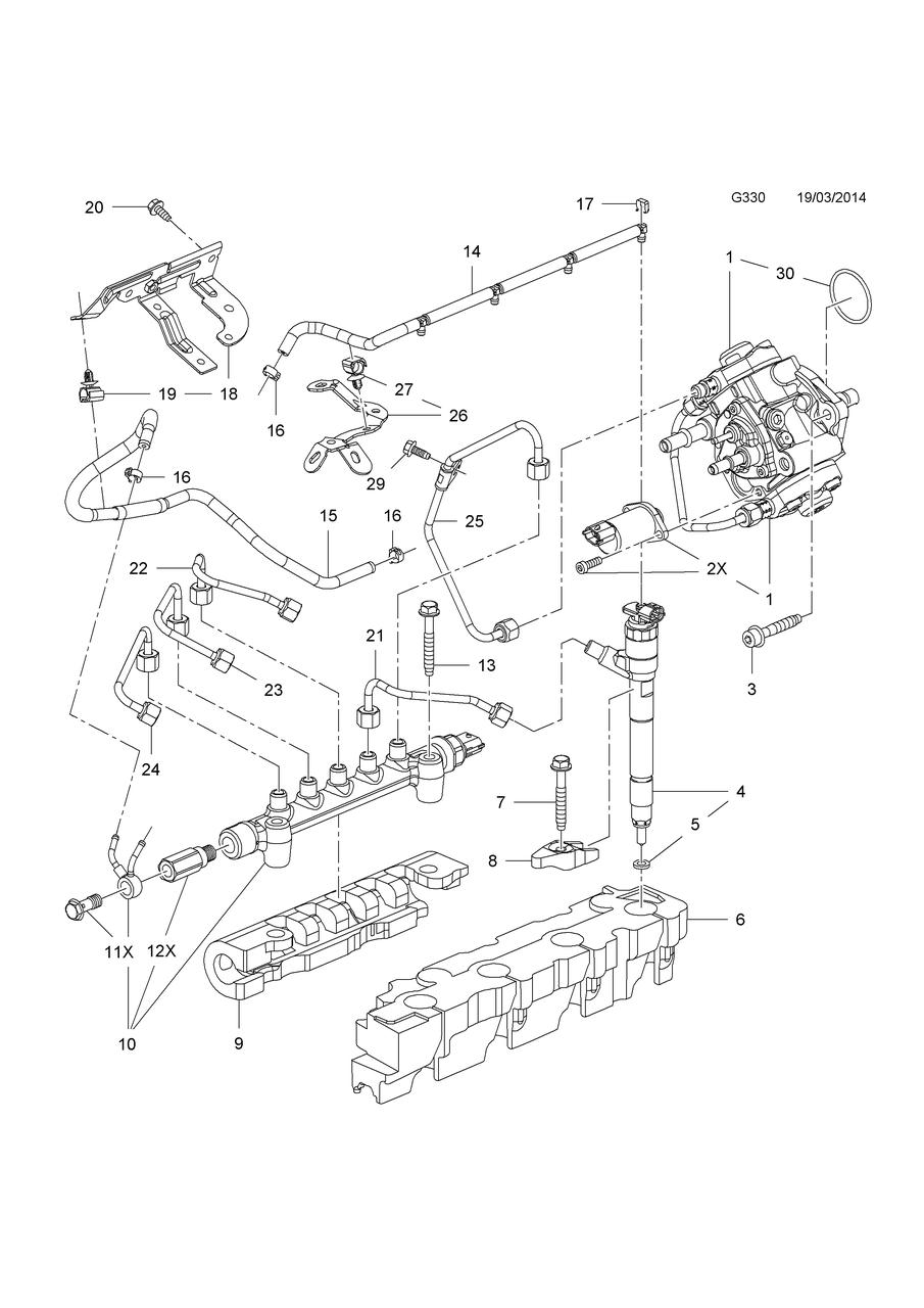Кольцо уплотнительное топливной форсунки GM 55590468 B16DTC B16DTE B16DTH B16DTJ B16DTL B16DTN OPEL Astra-J/K
