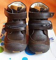 Детские кожаные зимние ботинки 22 р-р для мальчика Blooms kids натуральный  мех 3869df5f0fd40
